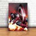 Placa Decorativa - Capitão América Fight