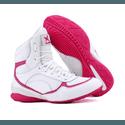 Bota de Treino Musculação Mr Gutt Cano Curto Branco com Rosa