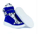 Tênis Bota Treino Sneaker Feminino Fitness Azul Caveira