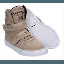 Tênis Bota Treino Sneaker Feminino Fitness Academia Bege
