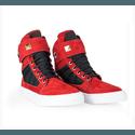 Tênis Bota Treino Sneaker Feminino Fitness Academia Vermelho