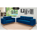 Estofado 2x3 Lugares Azul Celeste - Brisaflex Estofados