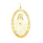 Pingente em Ouro 18K Jesus Cristo de 34mm