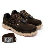 Sapato Caterpillar + Cinto Couro - Café