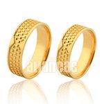 Alianças de Noivado e Casamento em Ouro Amarelo 18k 0,750 FA-1012