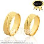 Alianças de Noivado e Casamento em Ouro Amarelo 18k 0,750 FA-989