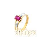 Anel de Formatura Feminino em Ouro Amarelo 18k 0,750 FA-151-N