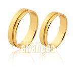 Belas Alianças de Noivado e Casamento em Ouro 18k