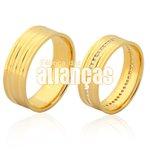 Alianças de Noivado e Casamento em Ouro 18k 0,750 FA-1118-Z
