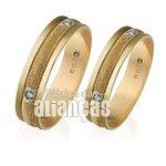 Alianças de Noivado e Casamento em Ouro Amarelo 18k 0,750 FA-253