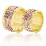 Alianças de Noivado e Casamento em Ouro Rose 18k 0,750 FA-383-R