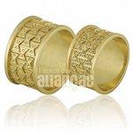 Alianças de Noivado e Casamento em Ouro Amarelo 18k 0,750 FA-677