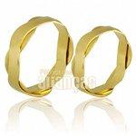 Alianças de Noivado e Casamento em Ouro Amarelo 18k 0,750 FA-685