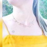 Colar Letras Cravejadas em Zircônias e Ponto de Luz Banhado a Ouro