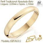 AL-011-Aliança de Casamento Ouro 18k Tradicional Reta