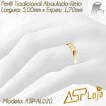 AL020- Aliança de Casamento e Noivado Tradicional de Ouro 18K