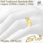 AL033-Alianças de Casamento Ouro 18K Tradicional Reta