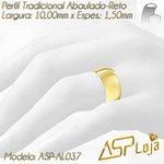 AL037-Aliança de Ouro Tradicional Para Casamento ou Noivado