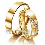Aliança Eheringe Classics listra ouro amarelo 18K 750 de casamento ou noivado largura 3,0mm-ASP-AL-18