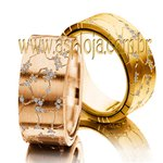 Aliança coleção Girello de casamento e noivado em ouro 18K-750 10,0 mm - ASP-AL-01