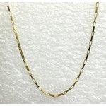 CO-11-Corrente de Ouro 18k Veneziana 1,0mm-45,0cm-1,50g