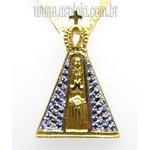 PG-36-Pingente Em Ouro 18k Nossa Senhor Aparecida