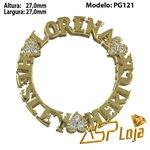 Pingente de Ouro 18K Mandala Com Nomes Personalizados-PG121