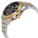 RLG-4028-Relógio Michael Kors Bradshaw Cronógrafo Azul MK5976/5AN