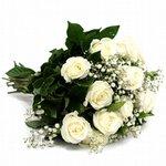 Buquê de Rosa Branca - 15 Unidades