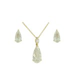 Conjunto Zircônia Lesprit U18K120131 Dourado Cristal