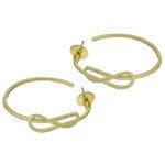 Brinco Argola Zircônia Lesprit LB17571WGL Dourado Cristal