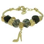 Pulseira Beloque Cristal Lesprit K03882-50690 Dourado Preto