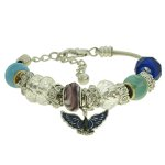 Pulseira Beloque Cristal Lesprit K03882-49810 Ródio Azul