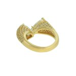 Anel Zircônia Lesprit LA07361WGL Dourado Cristal