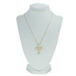 Colar Crucifixo Lesprit GL Dourado Cristal
