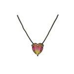 Conjunto Zirconia Lesprit U18A020021 Ródio Negro Rainbow Rosa e Amarelo