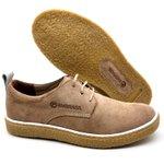 Sapato Masculino Cano e Gáspea de camurça Bmbrasil 890/02 Palha