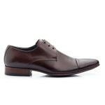 Sapato social masculino couro legítimo de amarrar 307 Mouro