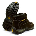 Bota Caterpillar Adventure - Cafe + Brinde 1 Par de Meia