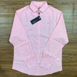 Camisa Social Dgraud - Manga Longa Rosa