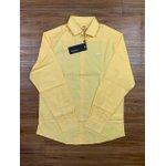 Camisa Social Dgraud - Manga Longa Amarela