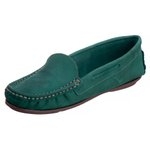 Sapato Mocassim Couro Legítimo Sola TR Feminino Verde