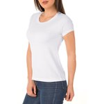 Camiseta Feminina 100% Algodão - Branca