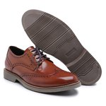 Sapato Casual Oxford em Couro