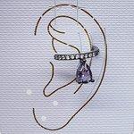 Piercing Fake Zircônia Gota Grafite Lilás