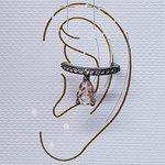Piercing Fake Zircônia Gota Grafite Rosê
