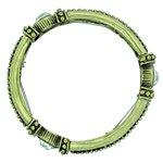 Pulseira Bracelete Boho Dourado Velho Strass *