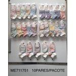 Meia Infantil Pacote com 12 peças