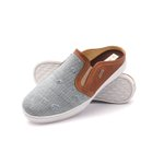 Sapato Mule Babuche Masculino Destroyed Jeans Paris GShoes - 165 - Jeans Claro Whisky