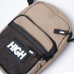 SHOULDER BAG HIGH LABEL BEIGE